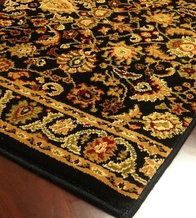 World WO02 Black Traditional Carpet Stair Runner