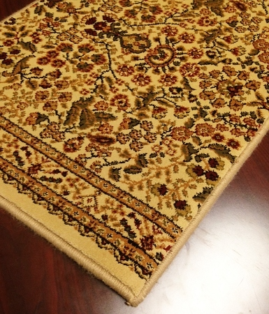 World WO04 Ivory Traditional Carpet Stair Runner