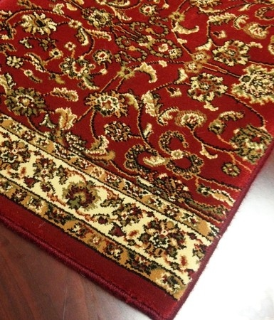 World WO01 Wine Traditional Carpet Stair Runner