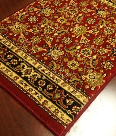 World WO07 Wine Traditional Carpet Stair Runner
