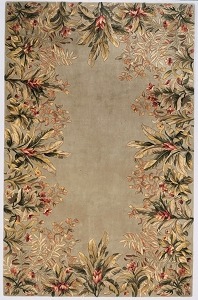 Emerald Tropical Border 9026 Sage Rug by Kas