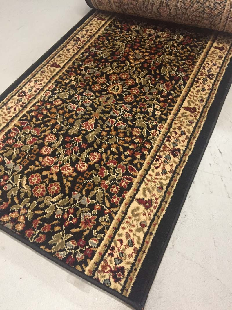 Black Market Place - 26 Inch Wide Finished Runner - Price is Per Foot