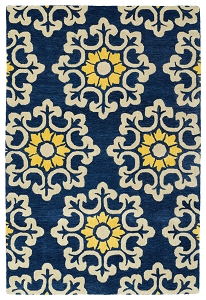 Kaleen Global Inspirations GLB100-17 Blue Rug