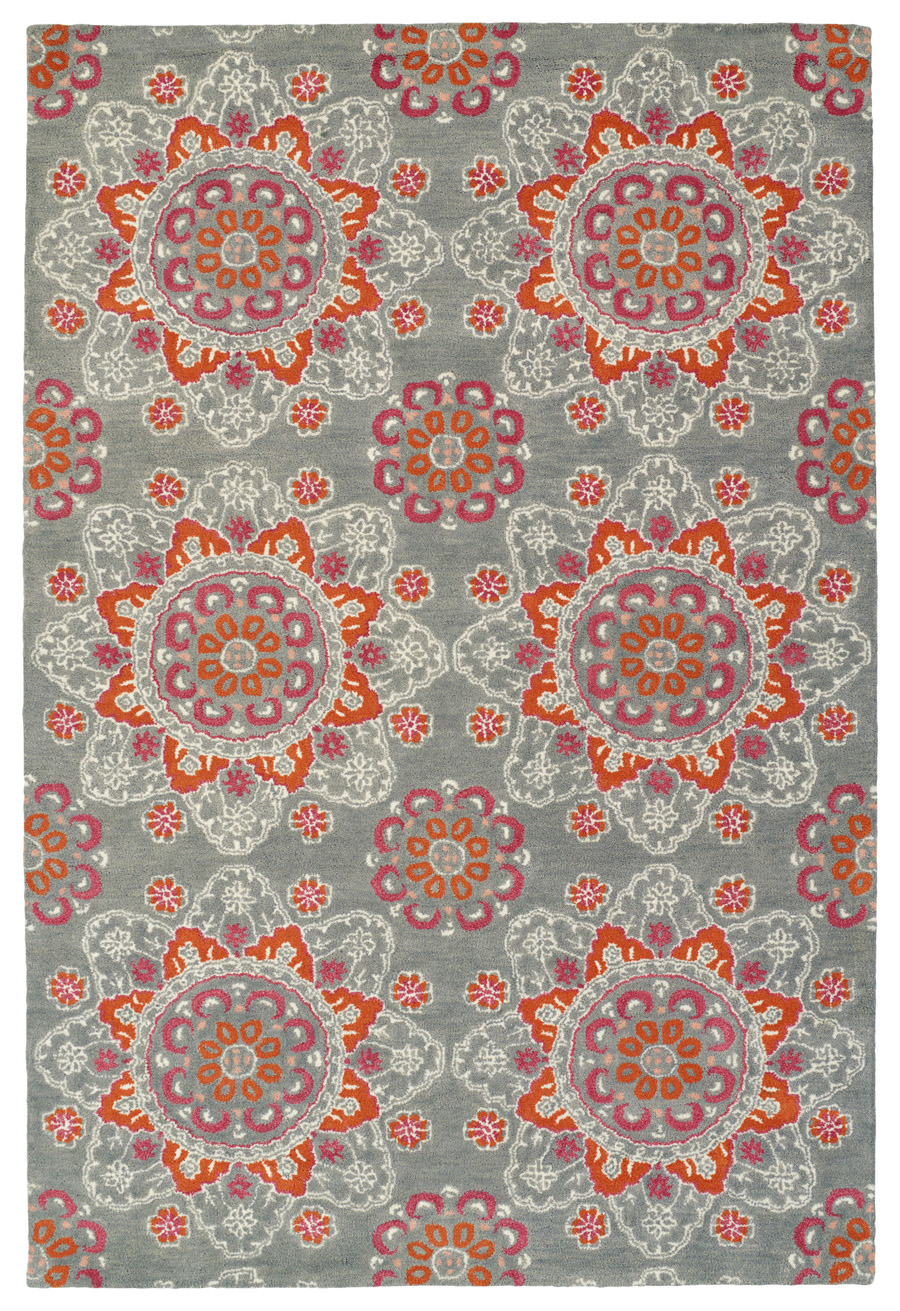 Kaleen Global Inspirations GLB12-75 Grey Rug