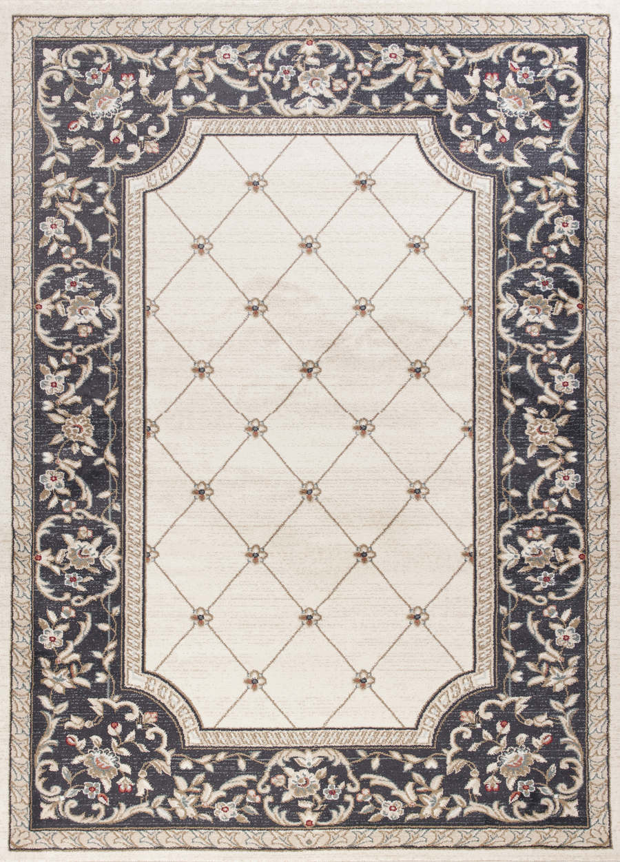 Kas Avalon 5614 Ivory Grey Courtyard Area Rug