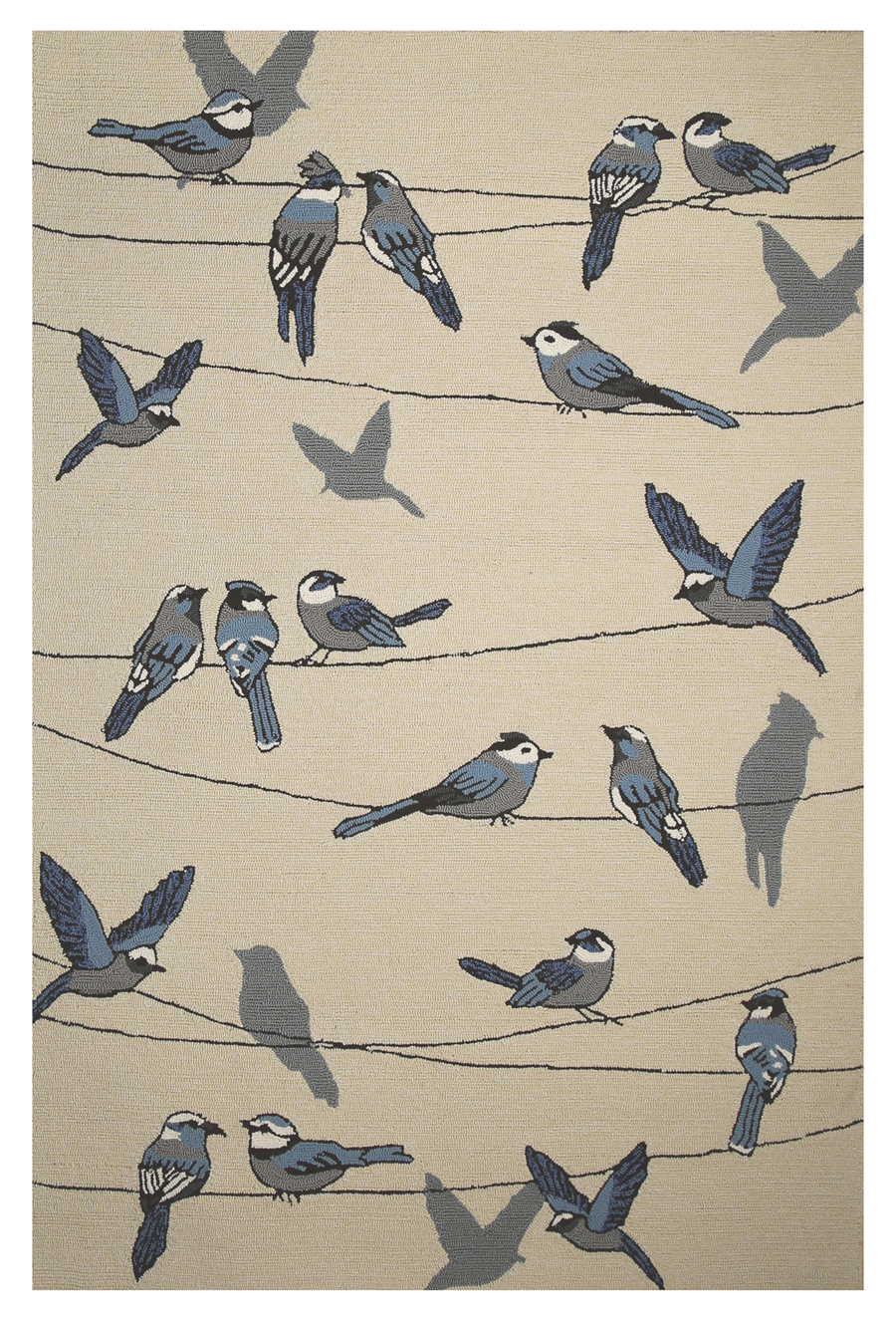 Kas Harbor 4221 Ivory Birds On A Wire Area Rug