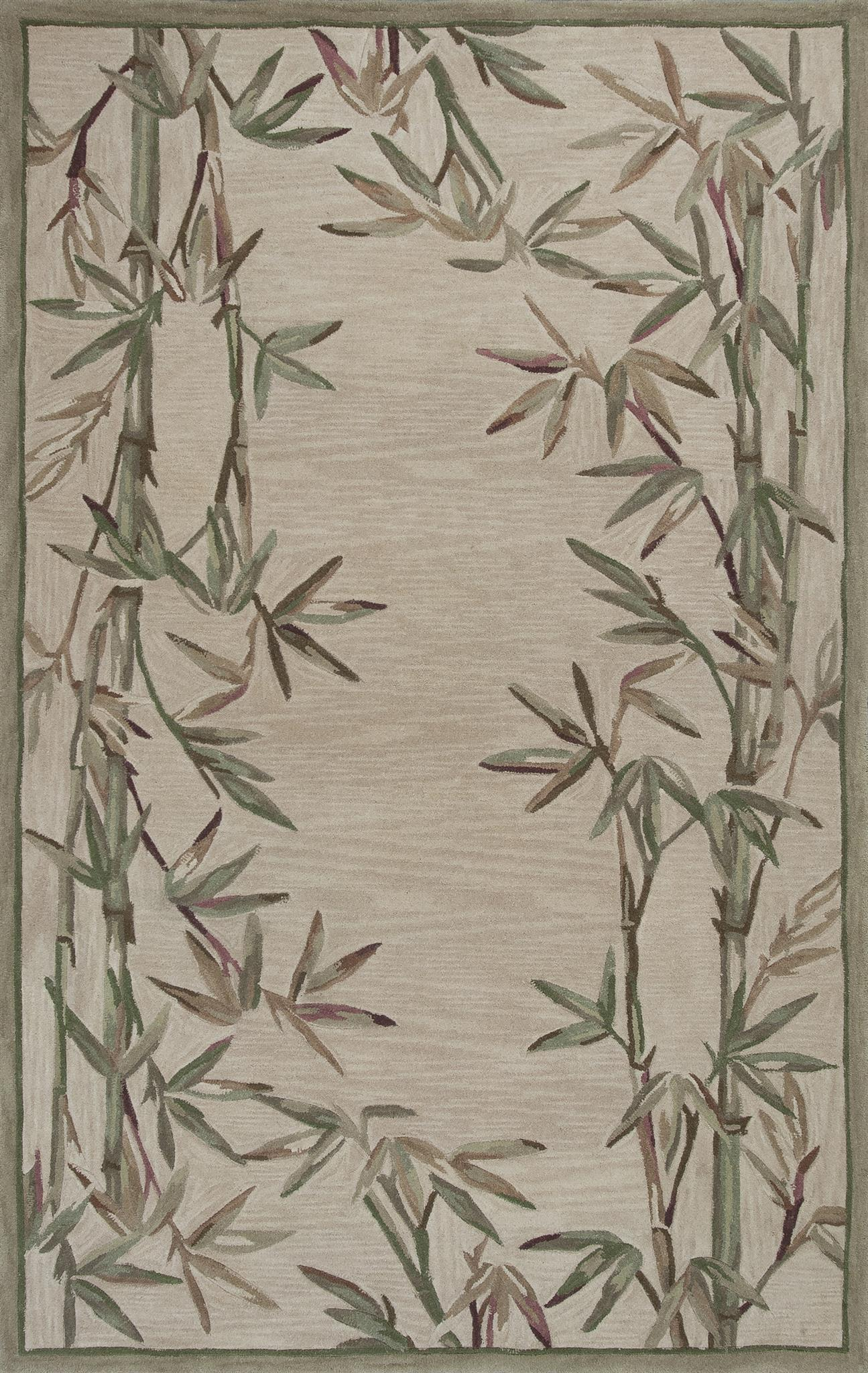 Sparta Bamboo Border 3146 Ivory Rug by Kas
