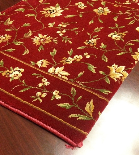 Augusta Floral CB43/0002A Ruby Floral Carpet Stair Runner