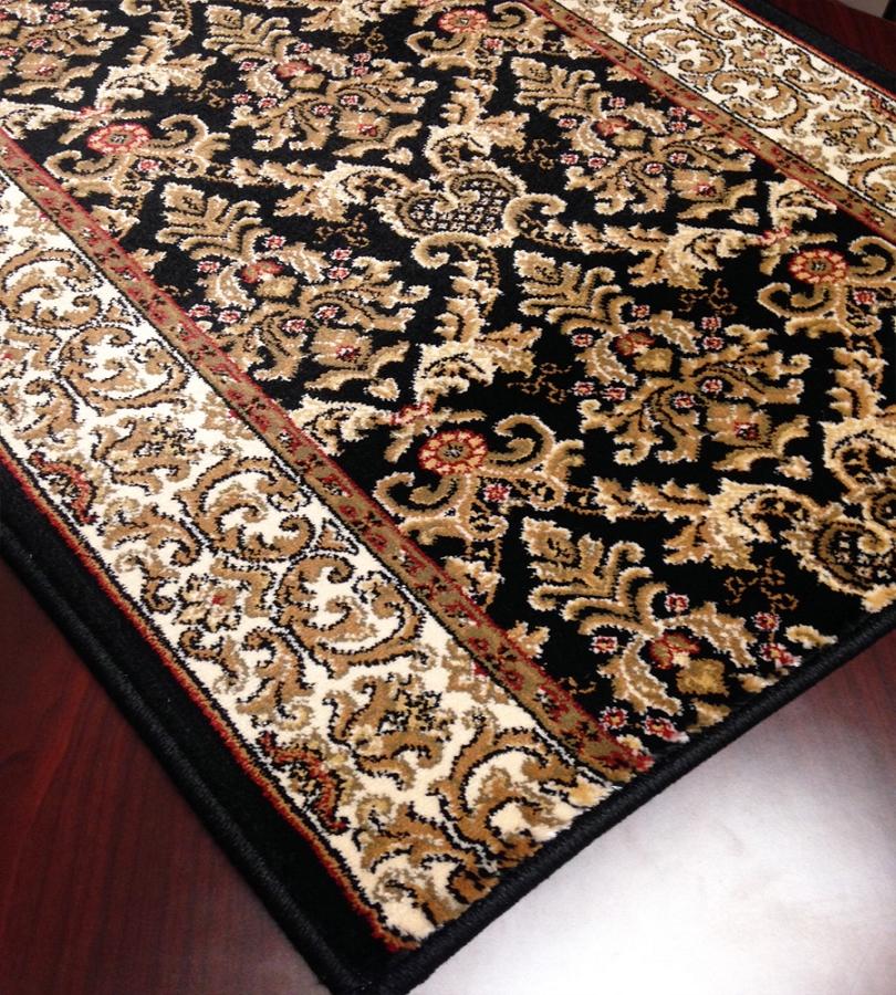 Cersei 5614 81 Elegant Ivory Black Carpet Hallway And