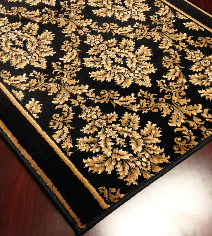Cersei 2069bk Tapestry Black Carpet Hallway And Stair