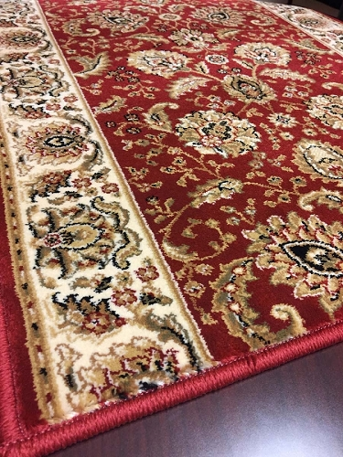 Cersei 2048CW Arcadia Crimson Hallway and Stair Runner