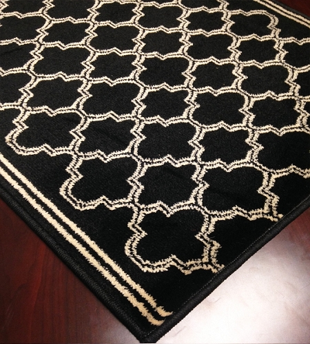 Caspian 8267BK Morocco Black Hallway and Stair Runner