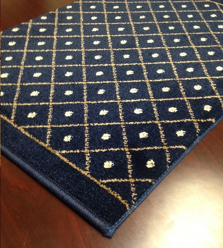 Como 782 Navy Carpet Stair Runner