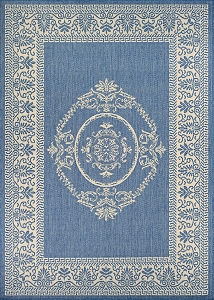 Couristan Recife Antique Medallion 1078-1212 Champagne Blue Area Rug