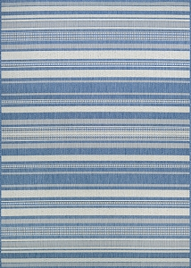 Couristan Recife Gazebo Stripe 5313-1212 Champ Blue Area Rug
