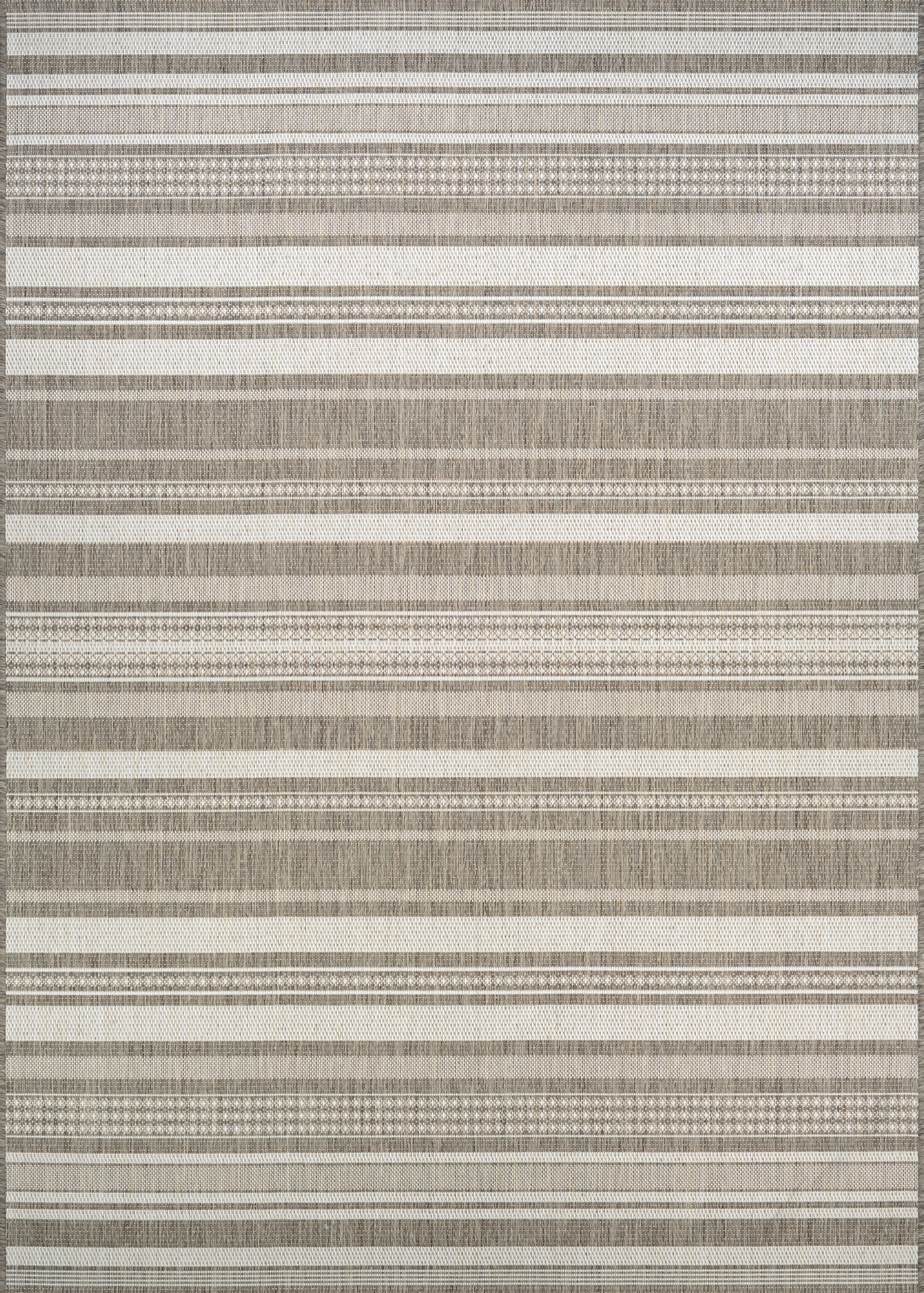 Couristan Recife Gazebo Stripe 5313-2312 Champ Taupe Area Rug