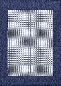 Couristan Recife Checkered Field 1005 6500 Ivory Indigo Rug