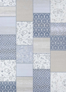 Couristan Marina Garden Patchwork 1264 0115 Oyster Pearl Rug