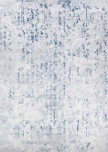 Couristan Calinda Kingsbury 5173 0758 Steel Blue Ivory Rug