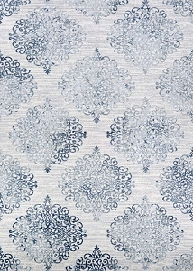 Couristan Calinda Montebello 5176 0758 Steel Blue Ivory Rug