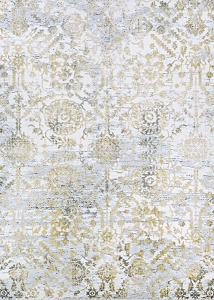 Couristan Calinda Marlowe 5178 0747 Gold Silver Ivory Rug