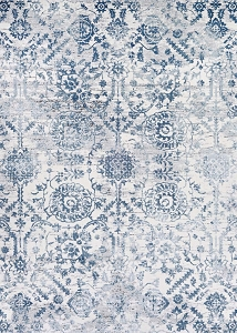 Couristan Calinda Marlowe 5178 0758 Steel Blue Ivory Rug