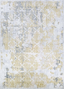 Couristan Calinda Grand Damask 5179 0747 Gold Silver Ivory Rug