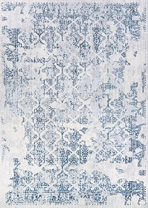 Couristan Calinda Grand Damask 5179 0758 Steel Blue Ivory Rug