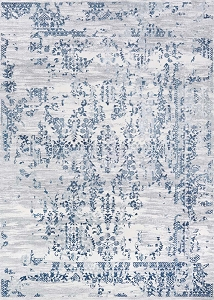 Couristan Calinda Samovar 5195 0758 Steel Blue Ivory Rug
