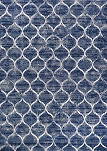 Couristan Easton Ogee 6345 5676 Dusk Blue Rug