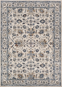 Couristan Monarch Kerman Vase JE45 6464 Antique Cream Slate Rug