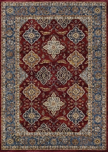 Couristan Monarch Yamut JE57 1454 Bordeaux Slate Rug