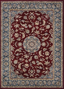 Couristan Monarch Medallion JE65 1454 Bordeaux Slate Rug