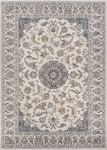 Couristan Monarch Medallion JE65 6454 Antique Cream Slate Rug