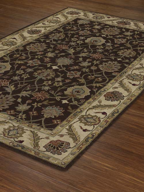 Dalyn Jewel JW33 Chocolate/Ivory Rug