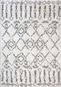Dynamic Nordic 7433 100 White Silver Area Rug