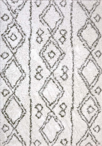 Dynamic Nordic 7434 100 White Silver Area Rug