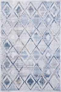 Dynamic Mosaic 1666 115 Cream Grey Blue Rug