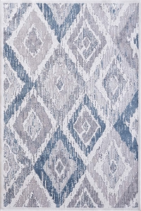 Dynamic Mosaic 1669 115 Cream Grey Blue Rug