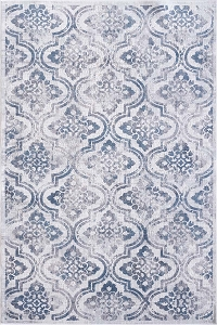 Dynamic Mosaic 1672 115 Cream Grey Blue Rug