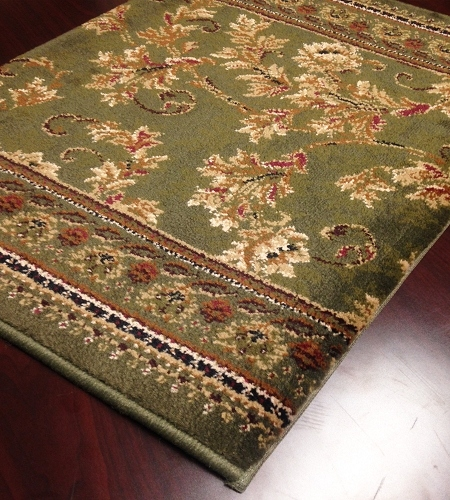 Earnest Scroll 262 Basil Carpet Stair Runner