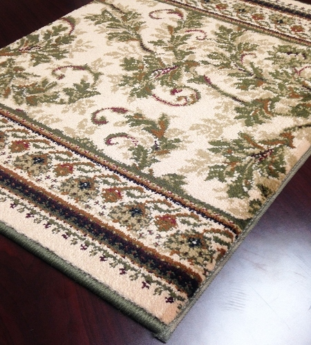 Earnest Scroll 203 Latte Carpet Stair Runner