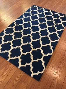 Express Navy - 3.5 x 5.5 - Hooked Rug