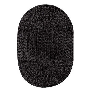 Black Ultra Durable Braided Rug