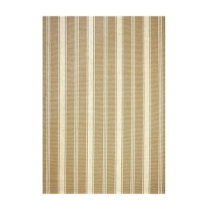 Latte Camden Stripe Ultra Wool Braided Rug