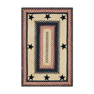 Primitive Star Gloucester Jute Braided Rug
