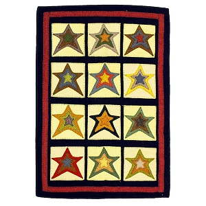 Star Sampler Penny Rug