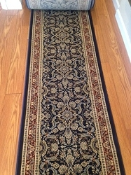 Saxon Navy - 26 Inch Wide Finished Runner - Price is Per Foot