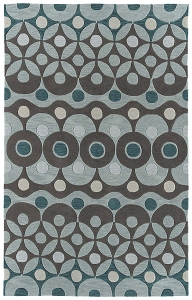 Kaleen Soho SOH07 91 Teal Rug by Rachael Ray