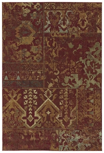Kaleen Upstate UPS01 25 Red Rug by Rachael Ray